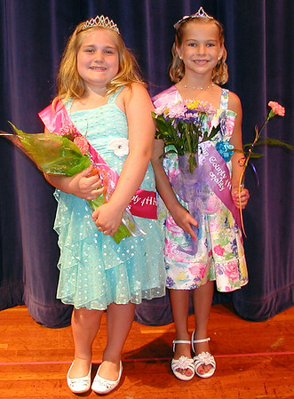 Diane Raver | The Herald-Tribune<br /> THIRTEEN YOUNG LADIES in Mini 4-H competed in the second annual Franklin County 4-H Fair Princess Pageant. Maggie Riffle (left) was named princess, and Samantha Volk Miss Personality. They will oversee Mini 4-H activities at this year's fair.