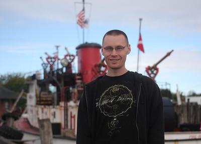 Chris at the Greenport Maritime Festival.