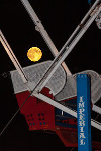 The Super Moon tonight apparently wanted to ride the Ferris Wheel at the Lebanon Fair...