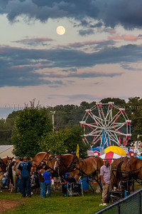 """Tonight's """"Super Moon"""" rising over the Lebanon Country Fair"""