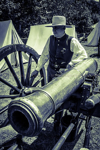 "A member of Battery ""B"" 1st R. I. Light Artillery at the Lebanon Country Fair"