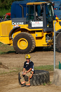Lebanon Fair Day 2 - LVFD at the ready at the demolition derby