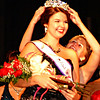 "Debbie Blank | The Herald-Tribune<br /> Ashley Moore is crowned Miss Ripley County 2014 by 2013 Queen Katie Huffman. The South Ripley High School senior who sings in the Young Confederates show choir confessed, ""I love being onstage."""