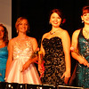 Debbie Blank | The Herald-Tribune<br /> Taking a final bow before judges began deliberating were Tapanga Gauck, Milan; Erin Moll, Batesville; Cheyenne Kern, Milan; Ashley Moore, Kristen Bailey and Bailey Howard, Versailles.