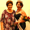 Debbie Blank | The Herald-Tribune<br /> Proud great-grandmother Lola Mitchell, Versailles, sees Ashley Moore for the first time wearing her tiara.