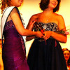 Debbie Blank | The Herald-Tribune<br /> Marissa Combs (right), Milan, won the Dazzling Diva People's and Hollywood Star opening number attire. Congratulating her is Miss Ripley County 2013 Katie Huffman.