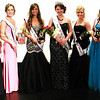 Debbie Blank | The Herald-Tribune<br /> Queen Ashley Moore (wearing crown) is flanked by the Ripley County 4-H Fair court: (from left) Miss Congeniality Savannah Kern, Milan; fourth runner-up Emily Cumberworth, Holton; second runner-up Brooke Hartman, Sunman; first runner-up Andrea Grossman, Versailles; and third runner-up Erin Moll, Batesville.
