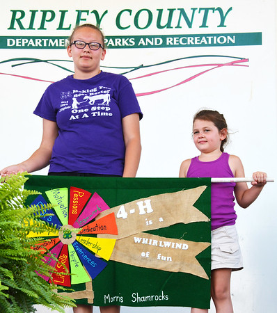 Debbie Blank | The Herald-Tribune<br /> The second place banner honor went to the Morris Shamrocks club.