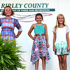 Debbie Blank | The Herald-Tribune<br /> Jac-Cen-Del sophomore Jodi Muckerheide (from left), Milan Middle School sixth-grader Karley Bushhorn, St. Mary's School fourth-grader Isabella Slagle, Batesville Intermediate School fifth-grader Tristan Rowlett and Jac-Cen-Del fifth-grader Olivia Neal all entered consumer clothing projects.