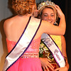 Debbie Blank | The Herald-Tribune<br /> 2015 Miss Ripley County Savannah Kern places a crown on Carah Beck's head.