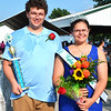 Debbie Blank | The Herald-Tribune<br /> Dakota Engelking (left) and Lacy Engelking were chosen as Ripley County 4-H Junior Leaders king and queen when the fair opened at the Osgood fairgrounds Sunday night. The brother and sister live in Sunman.