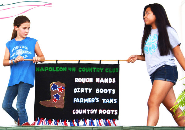 Debbie Blank | The Herald-Tribune<br /> The Napoleon 4-H Country Club banner took the third place award.
