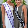 Debbie Blank | The Herald-Tribune<br /> Miss Ripley County Carah Beck (left) gets some queen pointers from Miss Indiana State Fair Tate Fritchley.