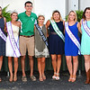 Debbie Blank | The Herald-Tribune<br /> Miss Indiana State Fair Tate Fritchley (center) is greeted by (from left) Ripley County royals: third runner-up Hanna Speer, first runner-up Sarah Pitts, Queen Carah Beck, 2015 4-H King Parker Jahnigan, 2015 4-H Queen Allison Luers, Miss Congeniality Bridget Swinney, fourth runner-up Kendra Franklin and second runner-up Andrea Grossman.