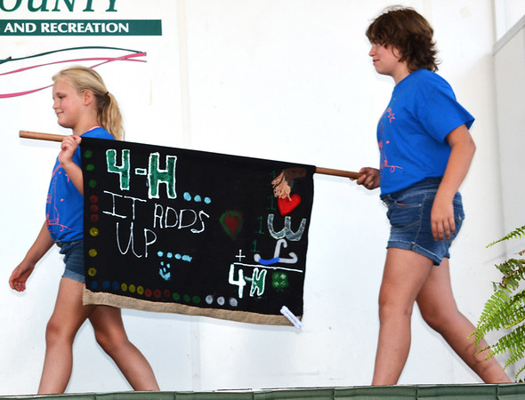 Debbie Blank | The Herald-Tribune<br /> The Ripley Wranglers 4-H Club created the fourth place club banner.