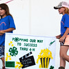 Debbie Blank | The Herald-Tribune<br /> The Faithful Workers 4-H Club captured first place in the banner contest. They were applauded at the opening ceremony Sunday, July 24.