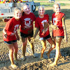Diane Raver | The Herald-Tribune<br /> Onika Struewing (from left), Gracie Cregar, Tristan Rowlett and Jayden Harrington didn't seem to care how dirty they got in the Barnyard Olympics.