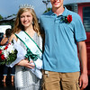 Debbie Blank | The Herald-Tribune<br /> Sunman cousins Michaela Hartman (left) and Keegan Moster were named the fair's 4-H queen and king. They are 10- and nine-year members of the Faithful Workers 4-H Club.