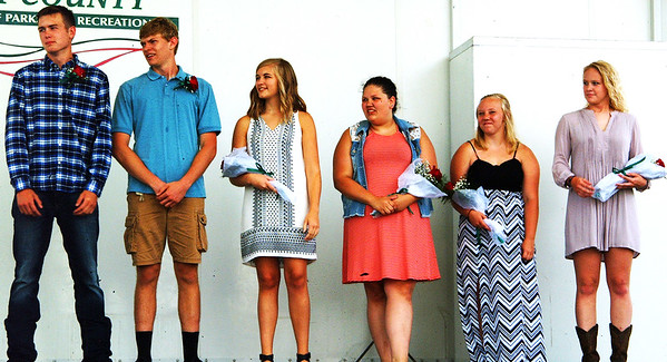 Debbie Blank | The Herald-Tribune<br /> Nominees for 4-H king and queen take the stage.