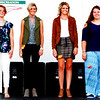 Debbie Blank | The Herald-Tribune<br /> Grand Champion Lydia Comer (from left), Reserve Grand Champion Hanna Speer, Heidi Speer and Baylee Dwenger participated in the sewing Senior Division.