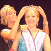 Diane Raver | The Herald-Tribune<br /> The 2018 Ripley County Queen Alyssa Brinkman (right) was crowned by 2017 Queen Hanna Speer.