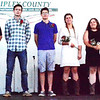 Debbie Blank | The Herald-Tribune<br /> Nominees for 4-H king and queen were (from left) Levi Stenger, Ben Krieg, Oliver Moster, Julia Weber, Shelby Hiltenbeitel and Patience Hornberger.