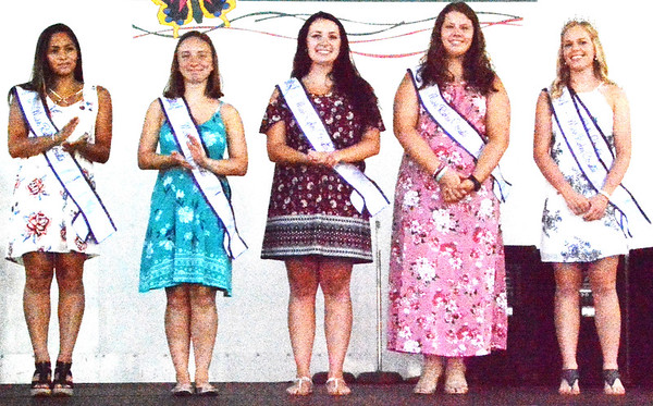 Debbie Blank | The Herald-Tribune<br /> Miss Ripley County Alyssa Brinkman (far right) and her court were part of the grand opening.