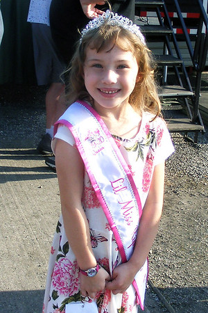 Will Fehlinger | The Herald-Tribune<br /> Aubrey Kincer, 6, a student at Sunman Elementary, was crowned Lil' Miss Ripley County Princess Wednesday evening at the county 4-H fair. Aubrey's parents are Justin and Tiffany Kincer.