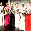 Diane Raver | The Herald-Tribune<br /> Celebrating along with 2019 Queen Heidi Speer and 2018 Queen Alyssa Brinkman (third and fourth from left, respectively) were the court, which consisted of fourth runner-up Anna Liming, third runner-up Shalee Harrington, second runner-up Malia Scheele, first runner-up Abbey Knowlton and Miss Congeniality Lacy Engelking.