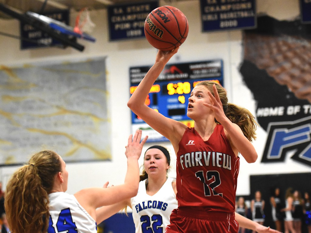 . Denali Pinto of Fairview High School in action against Highlands Ranch on Tuesday. Brad Cochi Photos