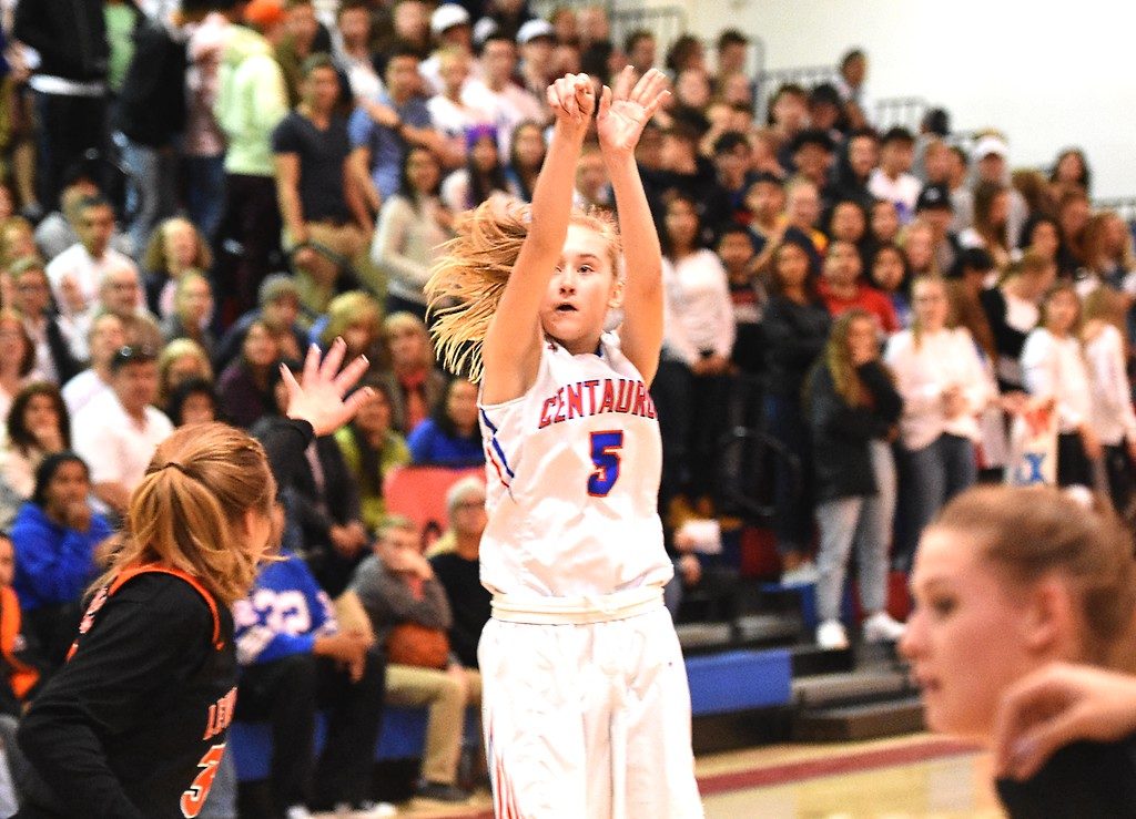 . Julia Mischke of Fairview High School in action against Highlands Ranch on Tuesday. Brad Cochi Photos