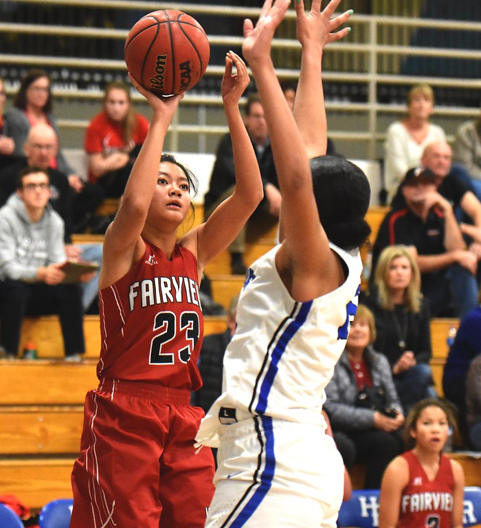 . Ashley Panem  of Fairview High School in action against Highlands Ranch on Tuesday. Brad Cochi Photos
