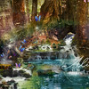 Redwood Waterfall_littledeervariation_8