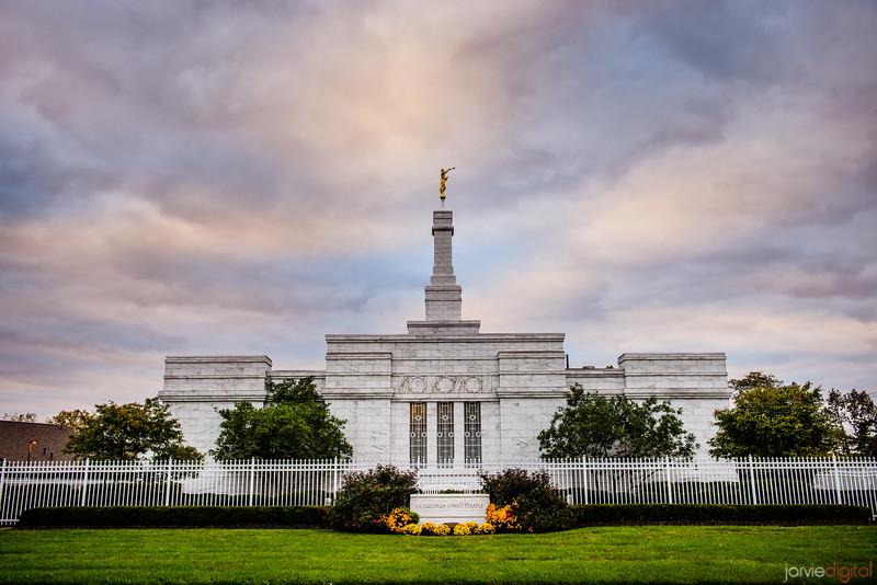 Columbus Ohio Temple Straight On