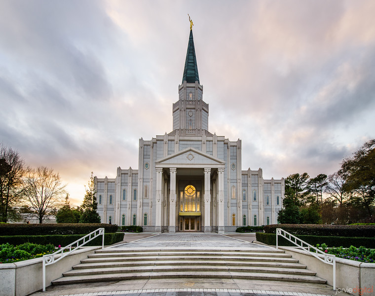 Houston Temple Stairs
