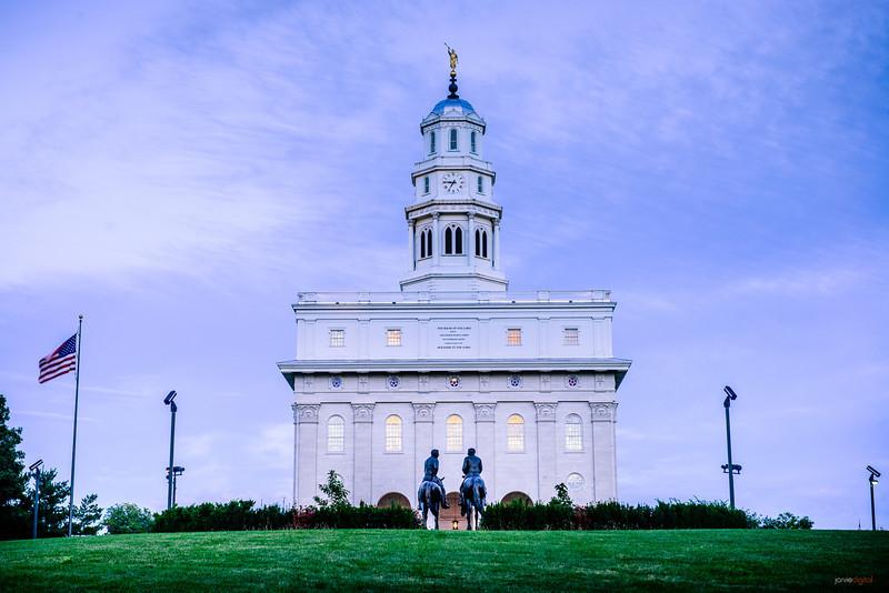 Nauvoo Temple Horsemen