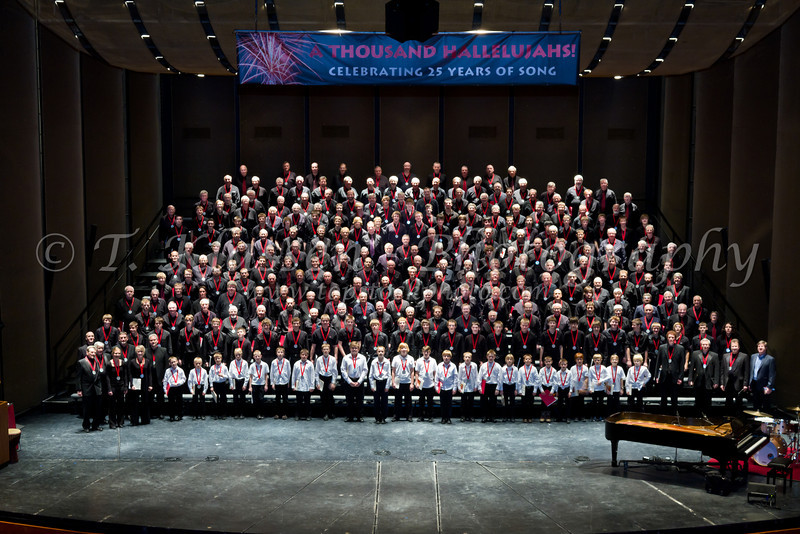 A Thousand Hallelujahs mass Faith and Life male choir concert, January 23, 2011 at the  Cenntenial Concert Hall in Winnipeg, Manitoba, Canada.