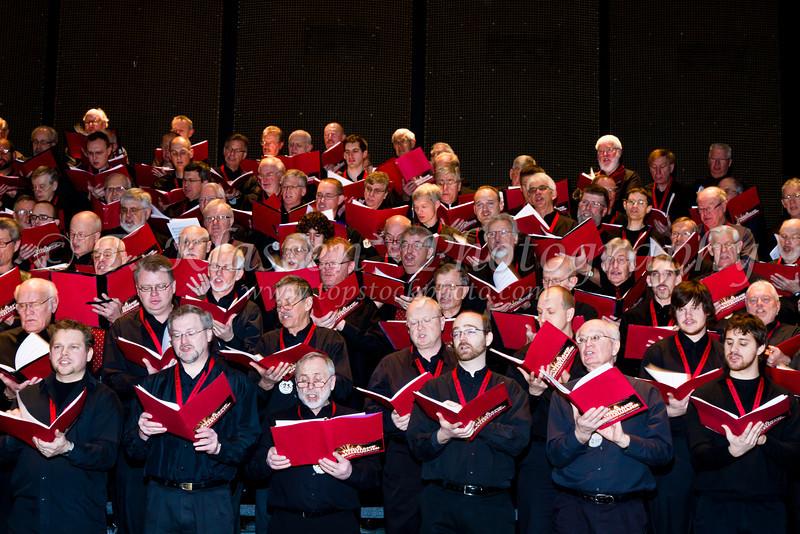 A Thousand Hallelujahs mass Faith and Life male choir concert, January 23, 2011 at the  Cenntenial Concert Hall in Winnipeg, Manitoba, Canada.