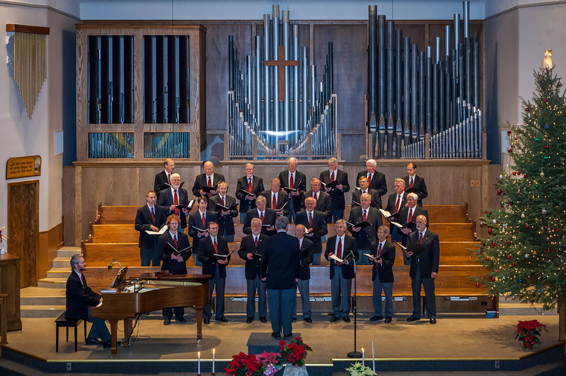 The Faith and Life Male Choir at the 2005 Christmas Concert at the First Mennonite Church in Winnipeg, Manitoba, Canada.