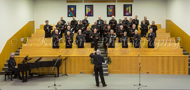 The Faith and Life Male Choir at their concert in Altona, Manitoba, Canada.