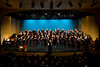 The combined choirs of the Faith and Life Male Choir and the Women's Chorus at their 2012 Christmas Concert at the PW Enns Concert Hall in Winkler, Manitoba, Canada.