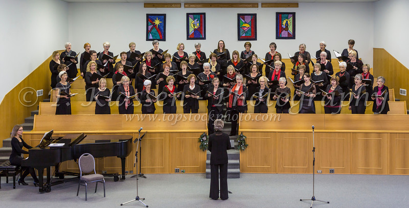 The Faith and Life Women's Chorus at their concert in Altona, Manitoba, Canada.
