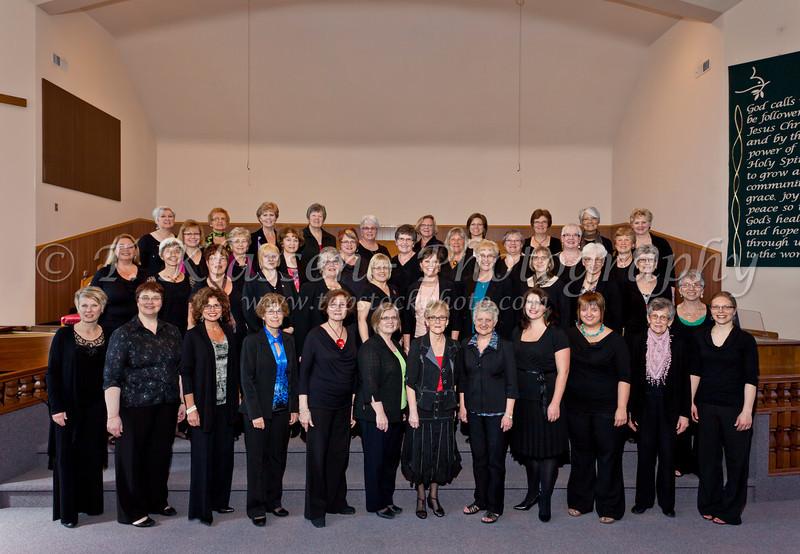 The 2012 Faith and Life Ladies Chorus.