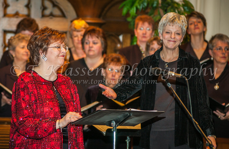 Henriette Schellenberg soloist and the Faith and Life Women's Chorus at the Crescent Fort Rouge United Church in Winnipeg, Manitoba, Canada.