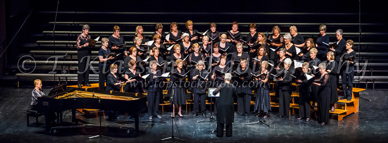 The Faith and Life Women's Chorus at the  Saengerfest sponsored by Golden West Radio at the Winnipeg Centennial Concert Hall.
