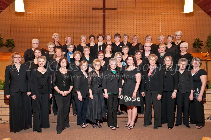 The femal chorus at the Spring 2010 Faith and Life Choral Concert at the Springfields Heights Mennonite Church in Winnipeg, Manitoba, Canada.