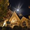 South Highland Presbyterian Church on Highland Avenue. A star shines down...