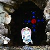 Taken at the Ave Marie Grotto in Cullman County...The photo gives almost cool effect of the angel levitating...It get chills and emotion when I look at this picture and the statement I feel it conveys.