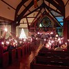 Christmas Eve service at South Highland Presbyterian Church (2019). All house lights were and only the candles and Christmas Tree Illuminate the beautiful sanctuary as we celebrate the birth of Christ.