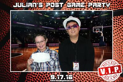 Julian's Bar Mitzvah Post Game Party